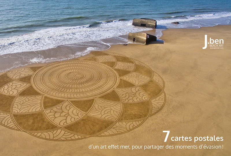 Coffret de 7 cartes postales Beach Art